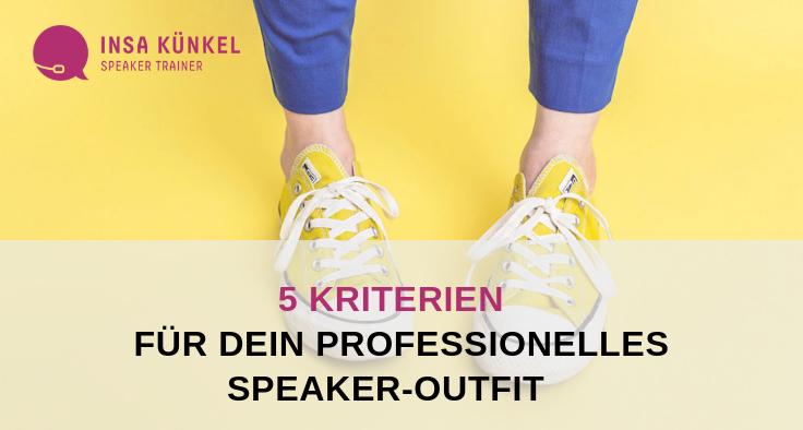 Was ziehen Speaker an, wenn sie einen Vortrag halten?