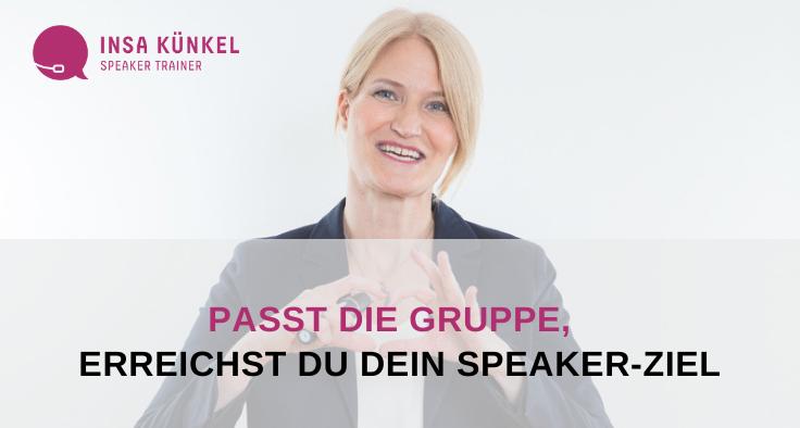 Ziele als Speaker erreichen